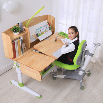 Child drawing table desk adjustable height kid ergomic chair with footrest baby chair and table