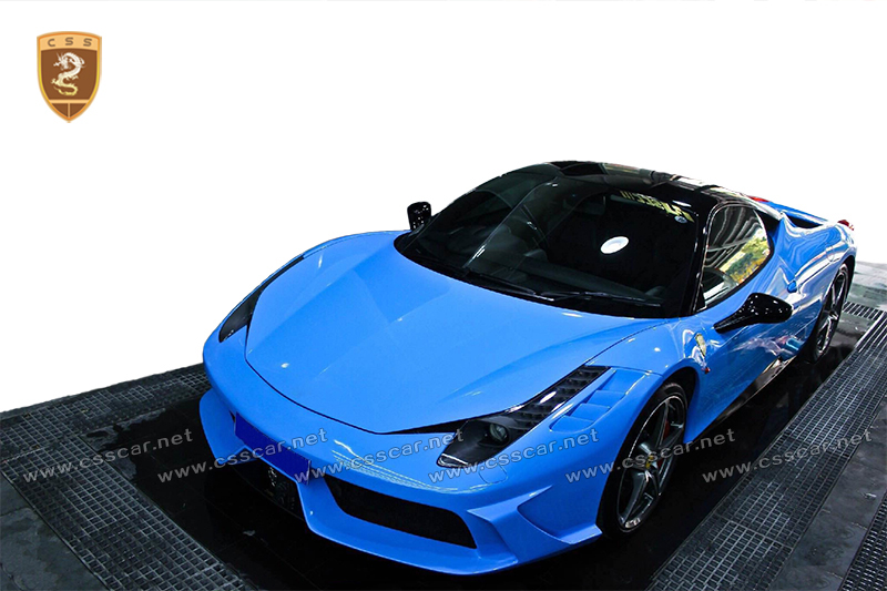 Body kit DMC style front bumper for ferari 458 in frp+cf