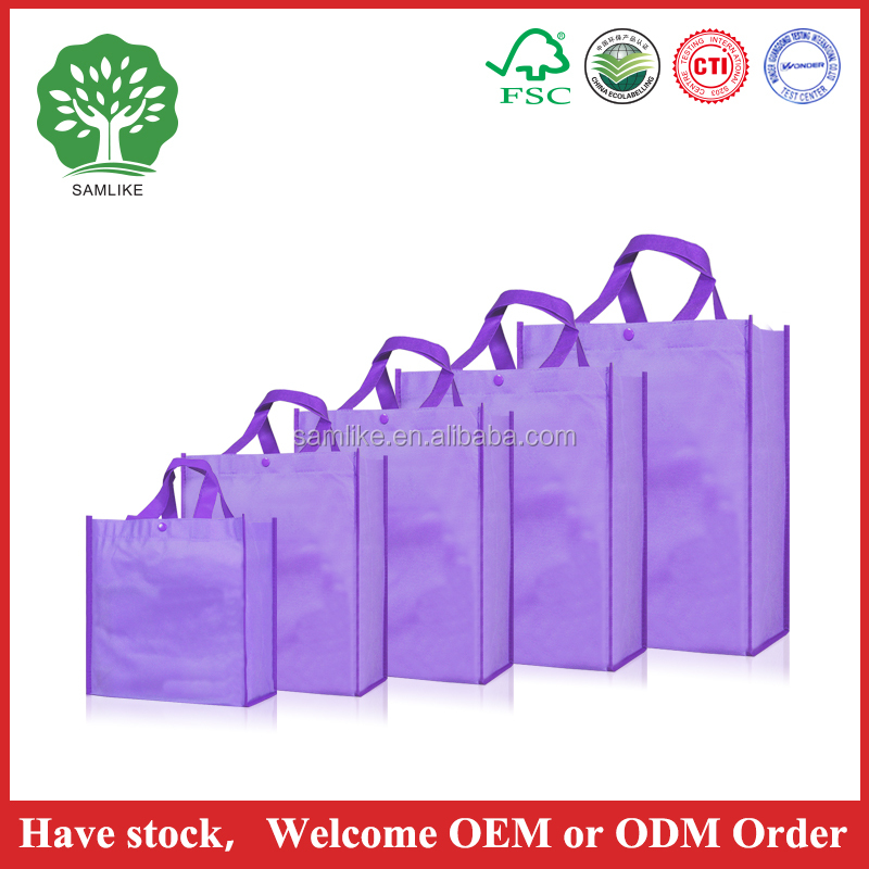 High Qualtiy non woven bag with customized logo printing promotional tote bag non woven shopping promotional