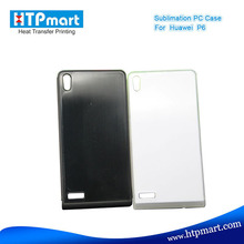 2D pc blank sublimation phone case bumper metal case for huawei ascend p6