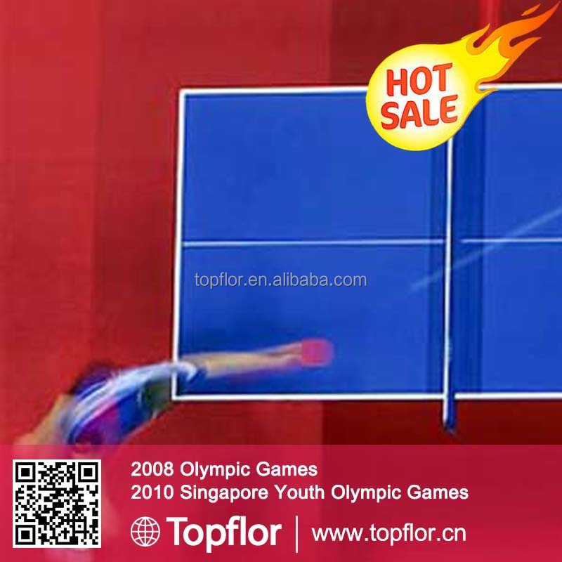 Topflor| Table Tennis Flooring Same Surface