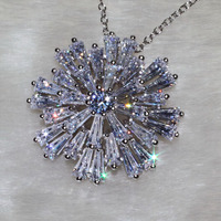 Shining T Diamond Prong-setting Jewelry Adorable Necklace