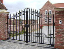 walk Gates Arched Gates metal gate/ Electrostatic spraying wrought iron Gate High Security