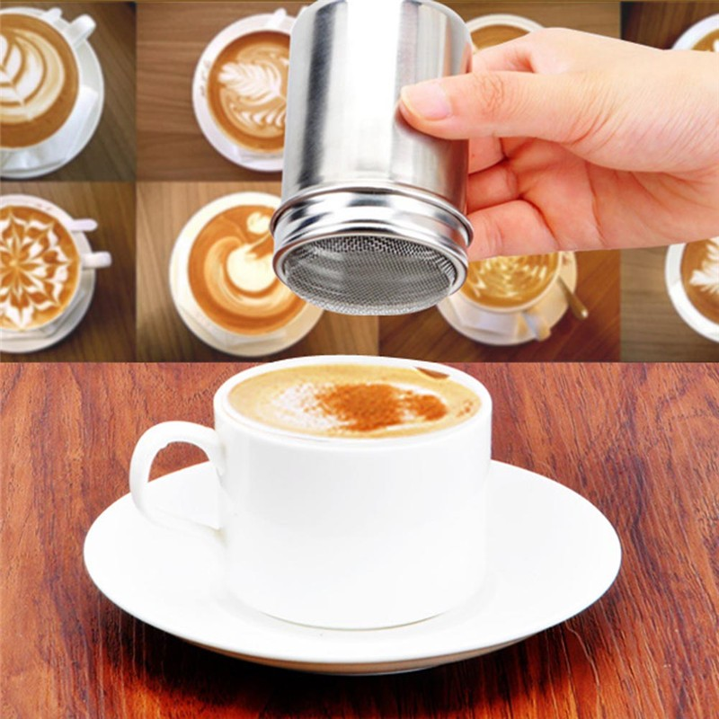 Arrival Stainless Chocolate Shaker Cocoa Flour Icing Sugar Powder Coffee Sifter Lid Kitchen Cooking Tools
