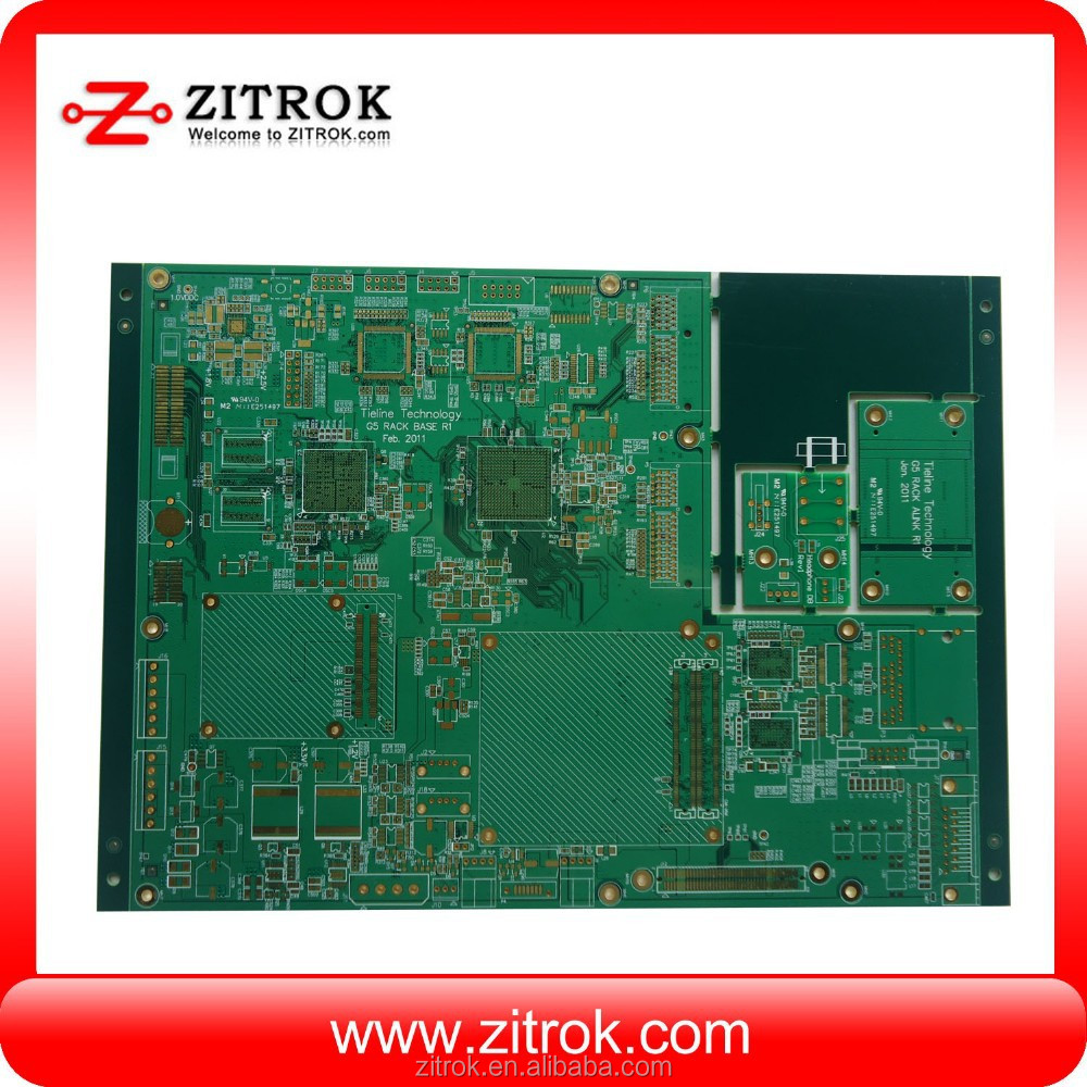 Competitive price 94v0 green solder mask 4 layer solder custom ps4 controller pcb mc pcb in shenzhen