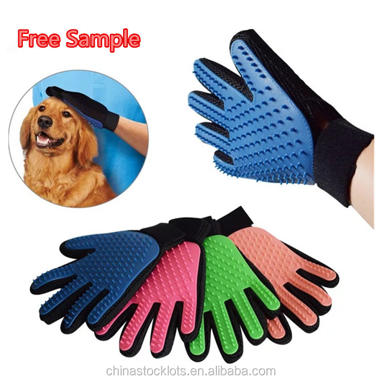 hot selling 2017 amazon clean up products pet grooming glove bathing brush for dogs pet supplies
