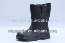 black cow leather steel toe protection elastic sided safety boots