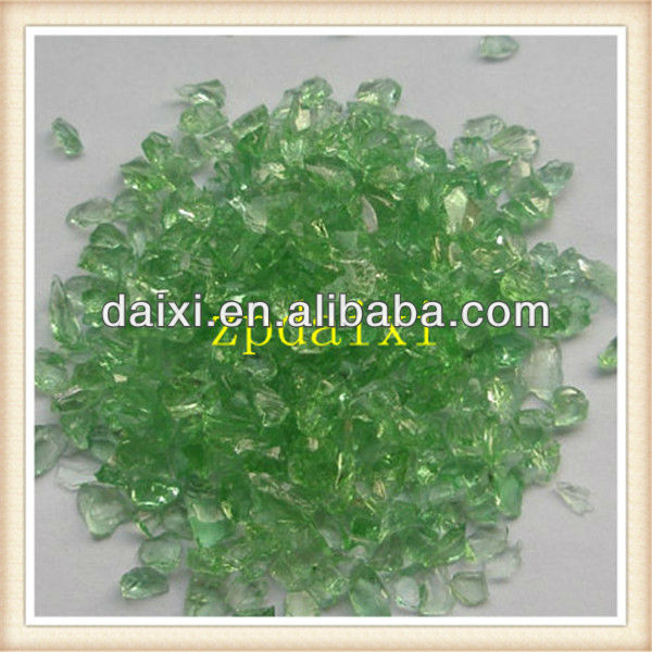 Supplying Decorative Light Green Crushed Glass