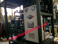 PLC Screw Pump Double Stage Vacuum Transformer Oil Regeneration System,Vacuum Refinery, Recycle Waste Transformer Oil