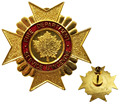 Custom gold maple leaf fire cap badge Price