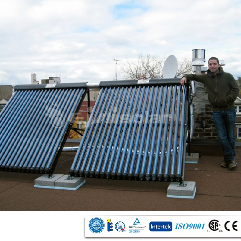 Ejai High Quality Roof Mounted Solar Hot Water Heater System with Manifold Solar Collectors
