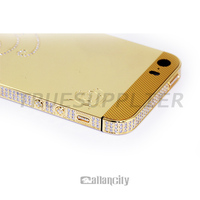 Luxury gold for iphone housing, for iphone 5, 5s back cover housing