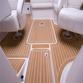 Professional marine synthetic teak faux teak decking sheet composite teak