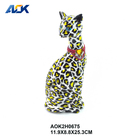 Hand Painted Colourful Statues Resin Cat Decor