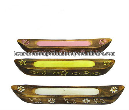 incense holders carved boat model