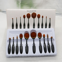 professional toothbrush type 10pcs makeup brush kit foundation brush Beauty makeup tools with soft nylon hair