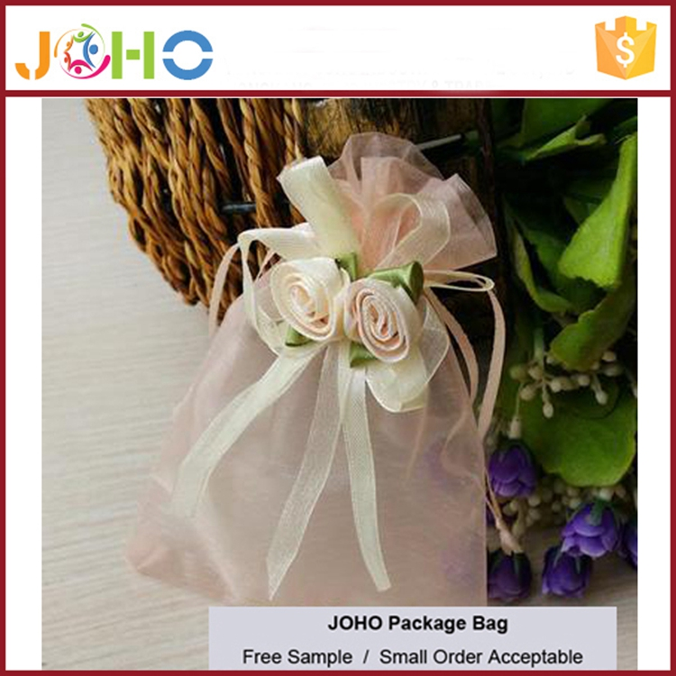 China Manufacturer Wholesale Custom Fashion Cheap Organza tote bag for wedding favor