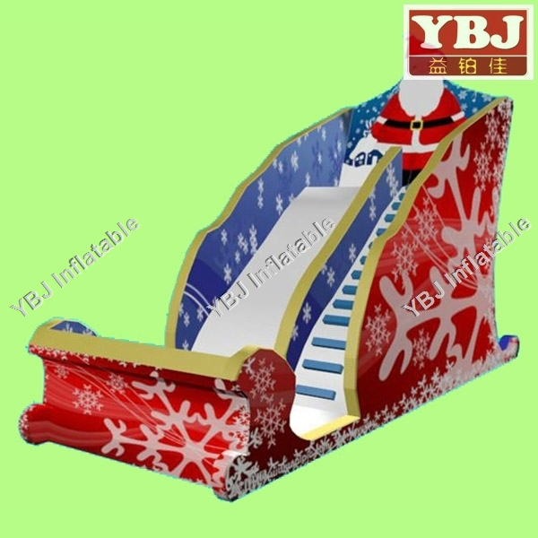 YBJ popular christmas Santa Claus inflatable slide