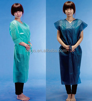 Disposable Medical Patient Gown, non-woven, dark blue