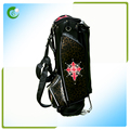 Leopard Print Leather Golf Bag With Stand