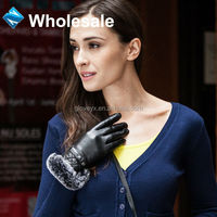 Fashion Winter Women Fur Cuff Leather