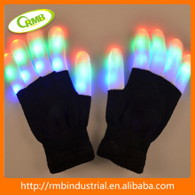 Party favor Glow in the dark shining Glove for Halloween flashing led glove