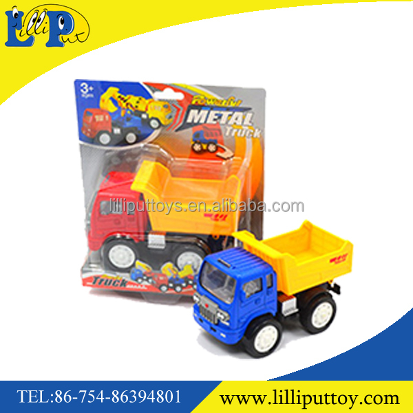 2 colors friction power metal engineering truck toy for children