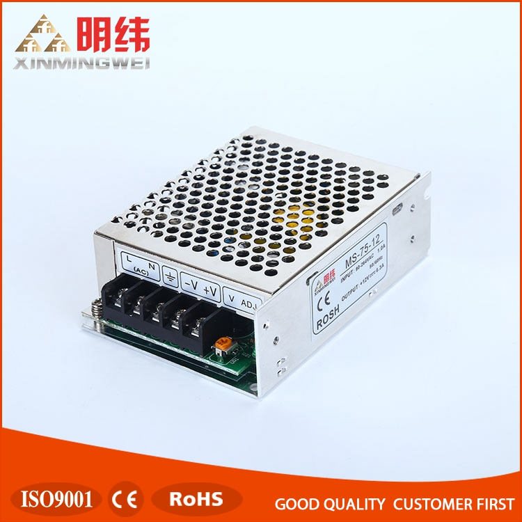 Mini size series ac to dc MS-75-12 led driver constant voltage single output switching power supply