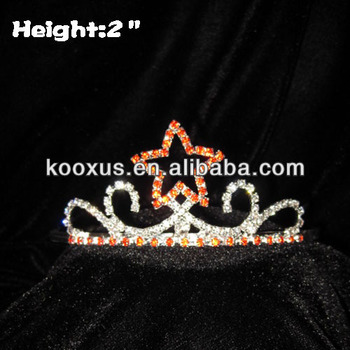 2 inch Red Star Pageant Crowns Tiaras