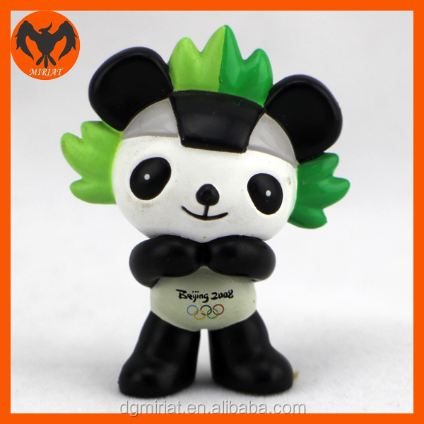 Miriat Product Custom Cartoon Plastic Panda PVC Figure For Collection