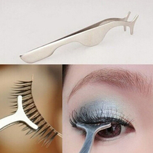 False Fake Eyelashes clip stainless steel Eye Lash eyelash curler Applicator Beauty Makeup Cosmetic Tool