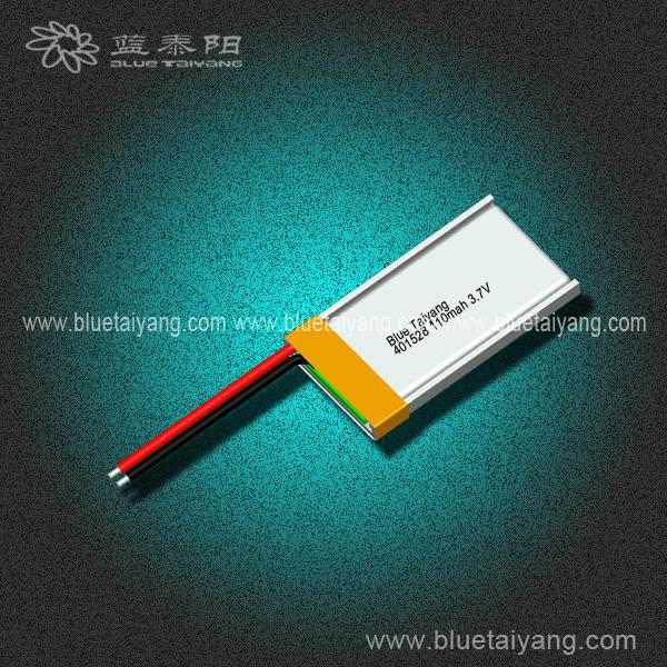 401528 110mAh Professional li-ion 3.8v battery with CE certificate
