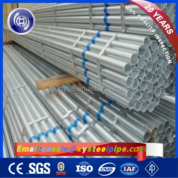 BS 1387 British Standard Hot Dipped Galvanized Surface Treatment GI Steel Tubes
