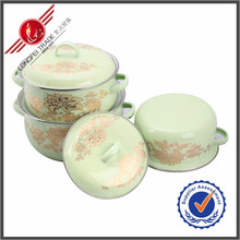 New Products Kitchen Utensil 3 Pieces Porcelain Enamel Cookware High Quality
