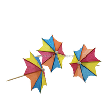 2016 Hot sale Eco-friendly Wooden Decorative Umbrella Toothpick for Party