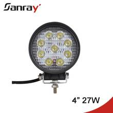 Off Road Car Head 4 inch 27W Led Auto Work Light