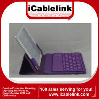 Ultra-thin Wireless Bluetooth Keyboard Leather Case For Mini ipad Purple