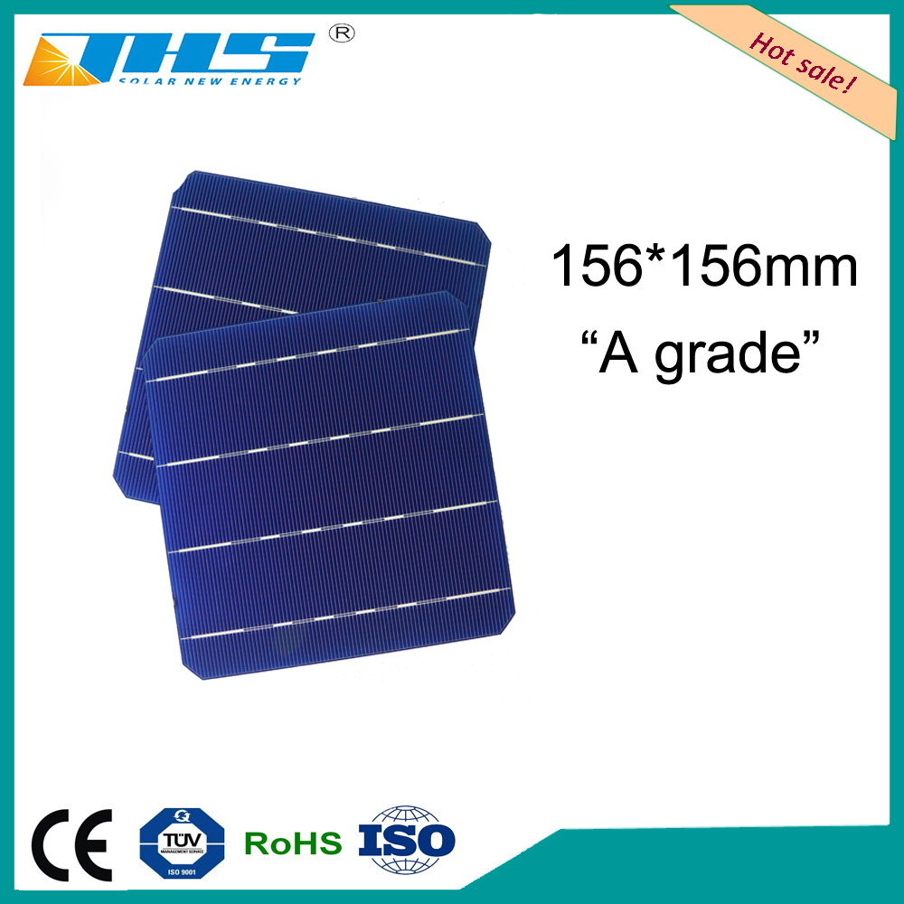 wholesale price 156.75x156.75mm solar cell 6.17 inch A grade high efficiency 21% above