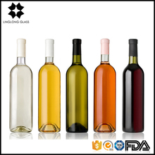 Hot sale one set nice colored Crossbones unique shaped glass wine bottle for sale