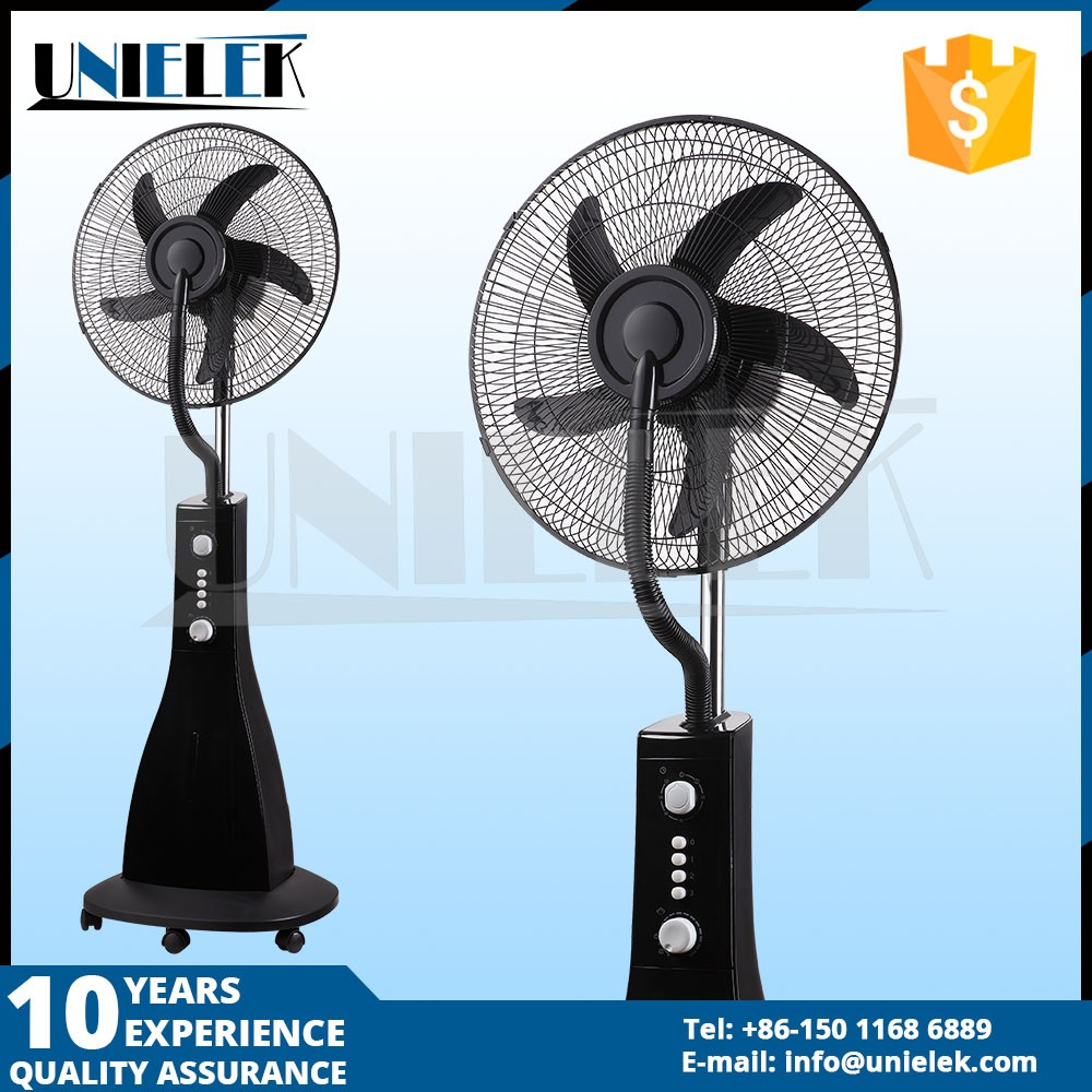 China factory 3 blades dc table fan industrial water misting system cooling fan