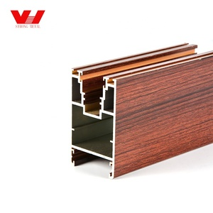 High quality wooden graining aluminium profile for sliding window