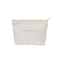 Wholesale canvas cosmetic bag for travel