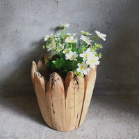 Home Garden Wedding Flower Vase Wooden