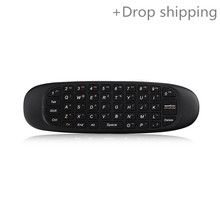 Good 2.4G Wireless Handheld Air Mouse Keyboard 6 Ax Gyro 3D Motion Sense for Android TV Box Remote Controller for drop shipping