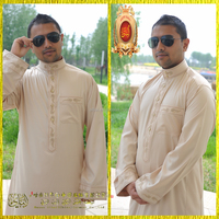 Top Quality New Model Arab Men Thobe Designs Islamic Clothing Men's Abaya with lowest price