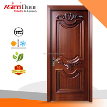 ASICO WN6901 design solid wooden single main door wooden panel door