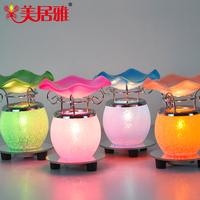 meijuya new night light electric oil burner dimmer fragrance lamp, 110V/220V incense burner B0258
