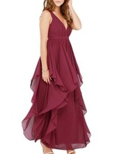 Women dresses Hot sexy deep V sleeveless multilayer long dress big size free prom dresses
