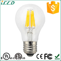 Hot Sale in Canada 4W 6W 8W A19 Filament LED 120V E26 E27 Candelabra LED 2700K Soft White