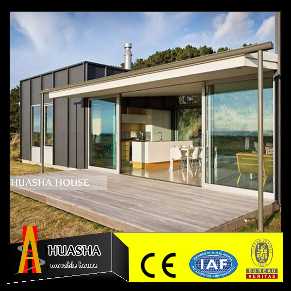 Beautiful prefab shipping container house model with main gate